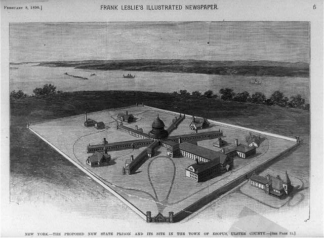 New York - the proposed new state prison and its site in the town of Esopus, Ulster County