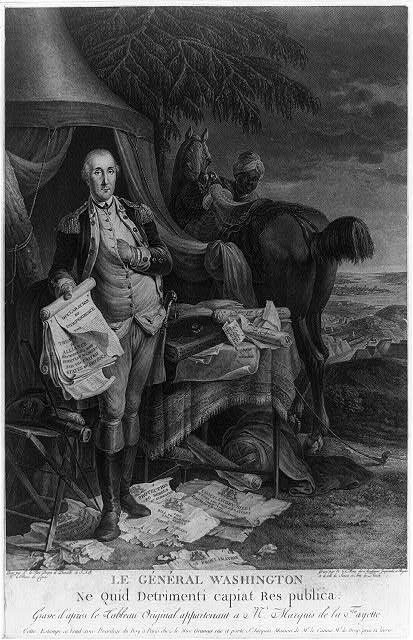 Le Général Washington ne quid detrimenti capiat res publica - gravé d'après le tableau original appartenant a Mr. Marquis de la Fayette