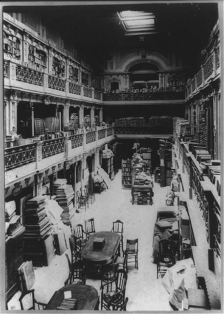 Old congressional library, main hall, looking south
