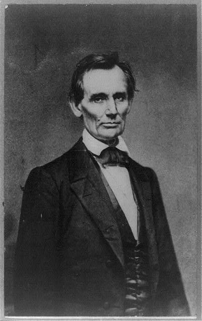 [Abraham Lincoln, candidate for U.S. president, before delivering his Cooper Union address, New York, N.Y., on Feb. 27, 1860]