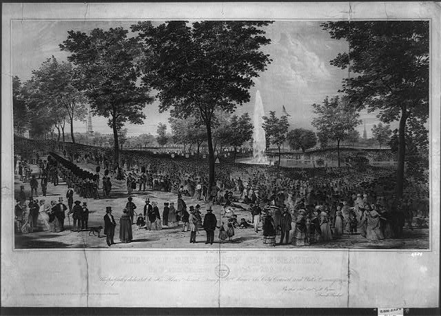 View of the water celebration, on Boston Common October 25th 1848