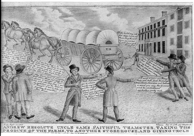 Cartoon Prints American Available Online Jackson Andrew Bank Of The United States Library Of Congress