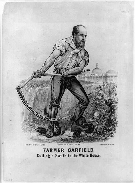 Farmer Garfield: Cutting a swath to the White House