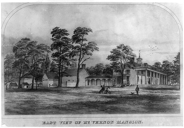 East view of Mt. Vernon mansion