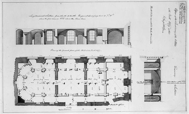 [United States Capitol, Washington, D.C. Ground floor plan, Judiciary offices, north wing]