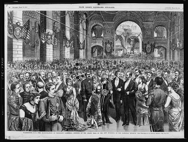 Opening of the Grand Ball in the new building of the National Museum - The inauguration of Pres. Garfield