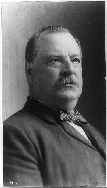 [Hon. Grover Cleveland, head-and-shoulders portrait, facing right]