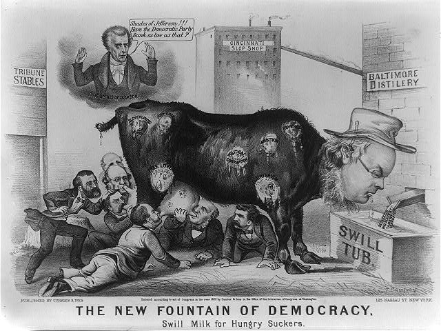 The new fountain of democracy: swill milk for hungry suckers