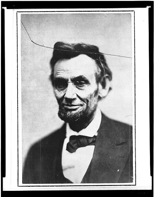 """[Abraham Lincoln, head-and-shoulders portrait, traditionally called """"last photograph of Lincoln from life""""]"""