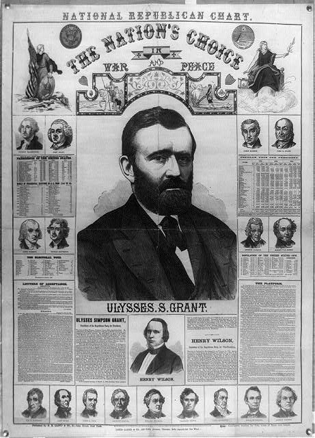 The Republican chart. The nation's choice in war and peace Ulysses S. Grant