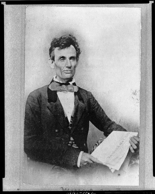 [Abraham Lincoln while campaigning for the U.S. Senate, taken in Chicago, Illinois