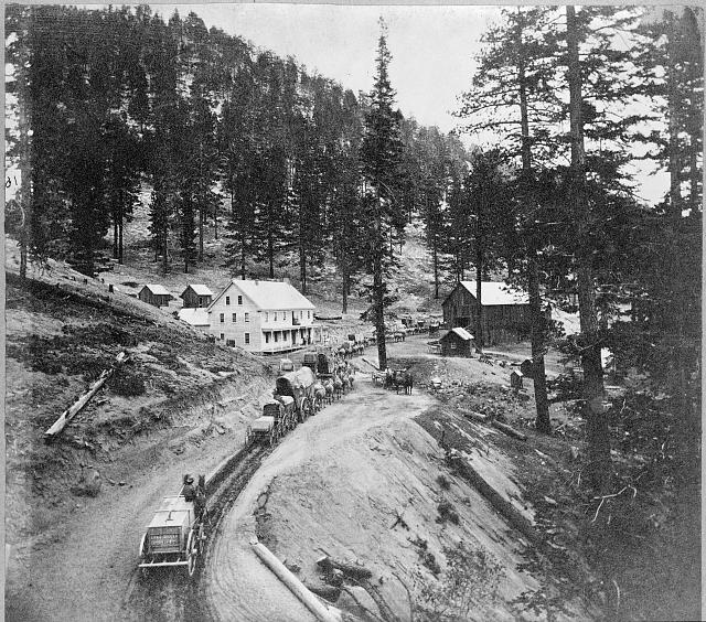 Swift's Station, Carson and Lake Bigler Road - eastern summit of Sierra Nevada Mountains