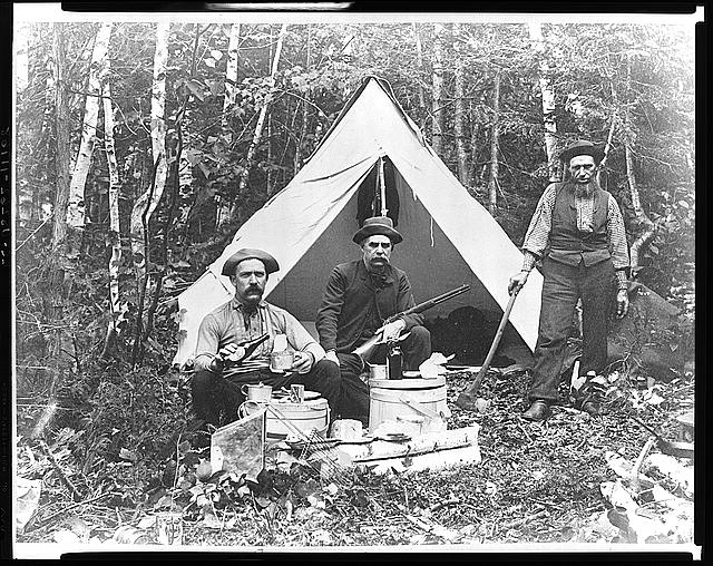 Camp at Norcross Brook: Aug. 1886