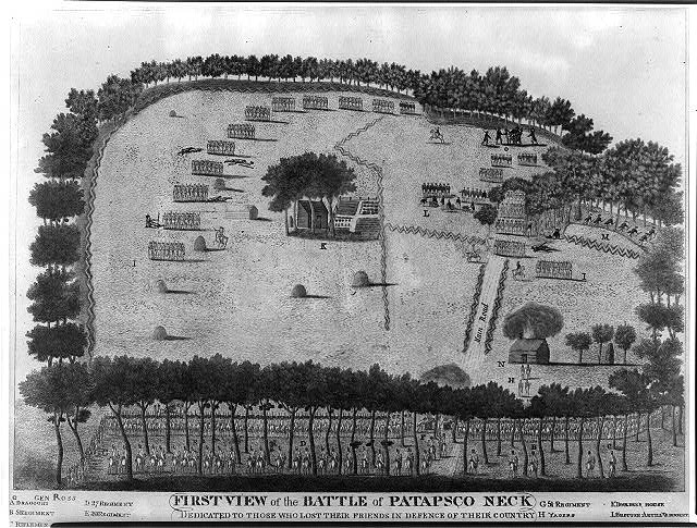 First view of the battle of Patapsco Neck dedicated to those who lost their friends in defence of their country, Septr. 12, 1814