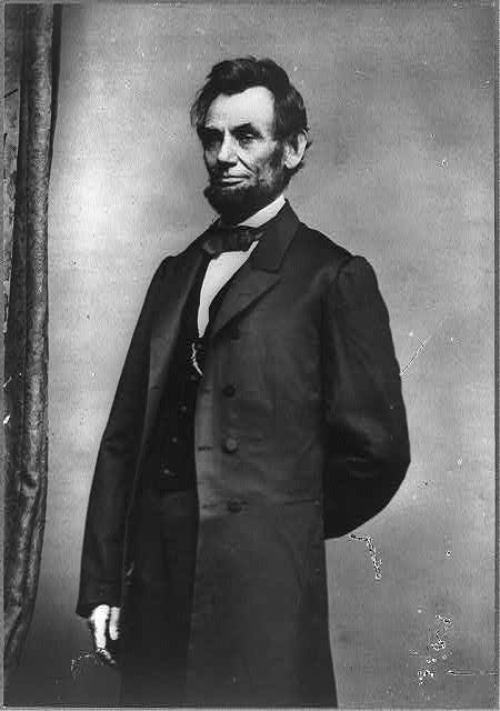 [Abraham Lincoln, three-quarter length portrait, standing]