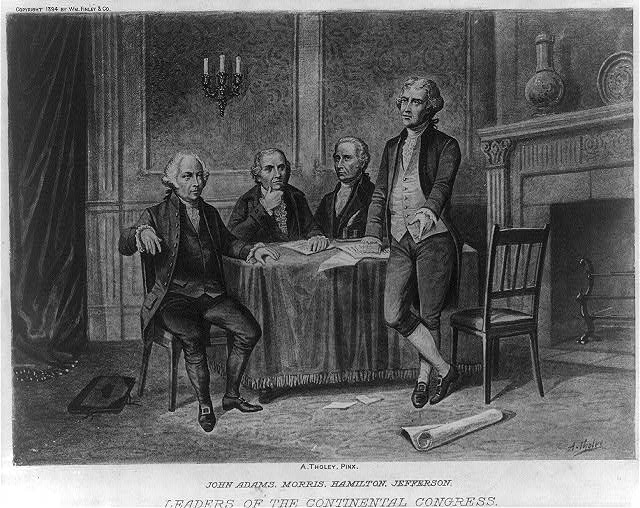 Leaders of the Continental Congress--John Adams, Morris, Hamilton, Jefferson / A. Tholey.