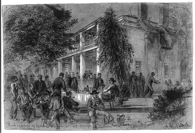 Headquarters of Genl. Warren at Col. Avery's house-near Petersburg