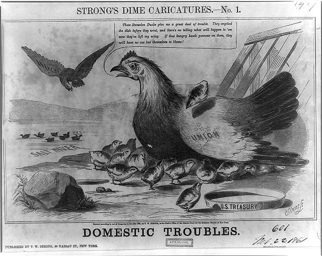 Strong's dime caricatures. No. 1, Domestic troubles
