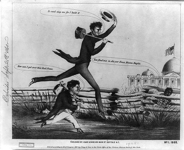 [Lincoln & Douglas in a presidential footrace]. No. 1, 1860