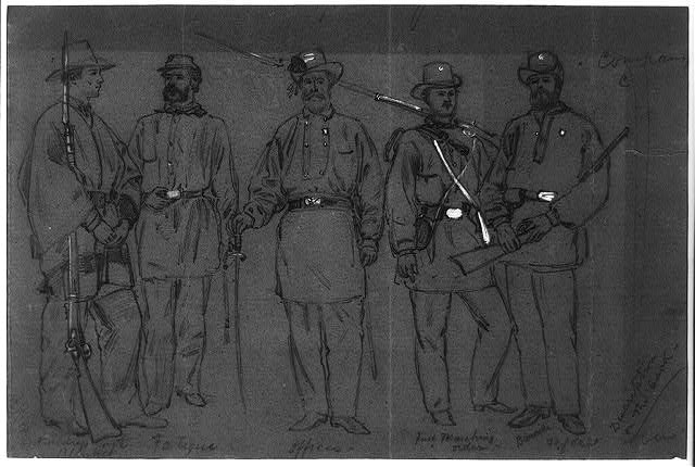 Group of Rhode Island Soldiers. Company C