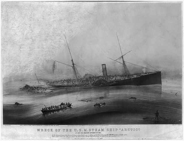 "Wreck of the U.S.M. steam ship ""Arctic"": off Cape Race Wednesday September 27th. 1854"