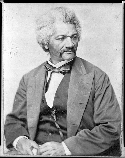 [Frederick Douglass, head-and-shoulders portrait, facing right]