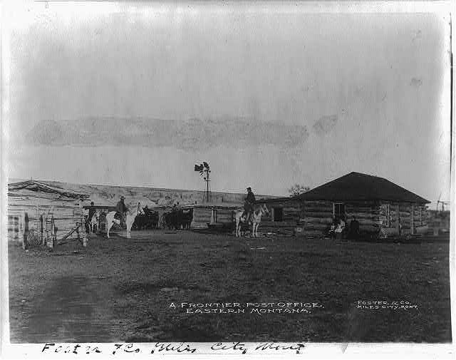 A frontier post office, eastern Montana