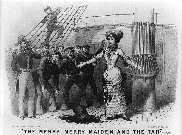 """The merry merry maiden and the tar""--(Pinafore)"
