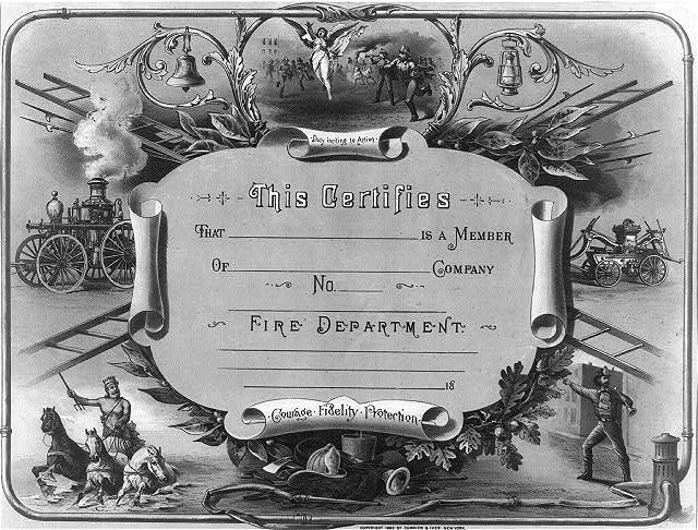 This certifies that _____ is a member of____ company. no.___ Fire department.