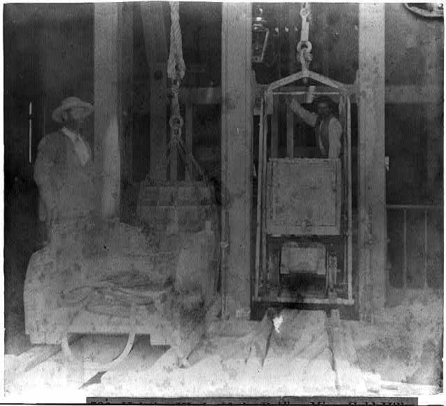 Hoisting works of the Bullion Mine, Gold Hill
