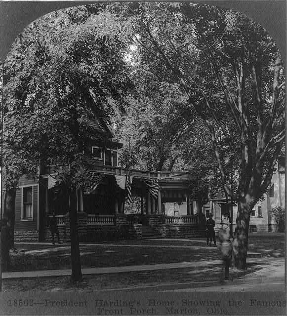 President Harding's home showing the famous front porch, Marion, Ohio