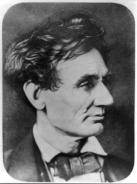 [Abraham Lincoln, head-and-shoulders portrait, facing right. Copy of the print by Thomas Doney]