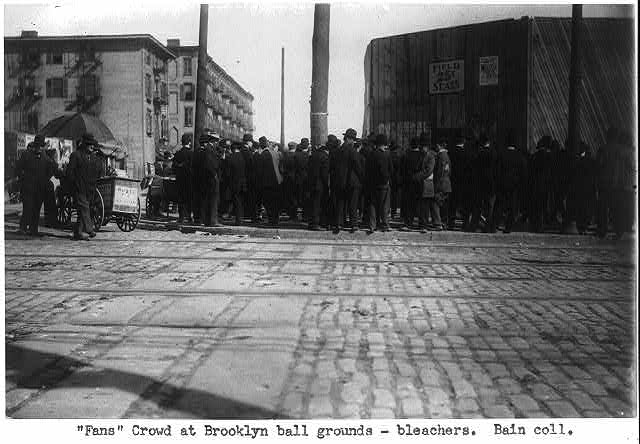 """Fans"" crowd at Brooklyn ball grounds"
