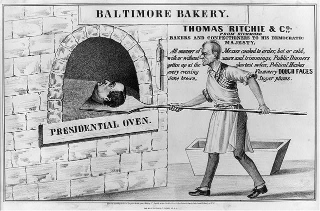 Baltimore bakery. Thomas Ritchie & Co. from Richmond--Bakers and confectioners to his democratic