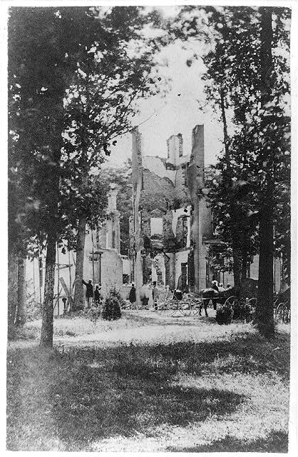 Ruins of Montgomery Blair's house at Silver Spring burnt by the Confederates under Gen. Early