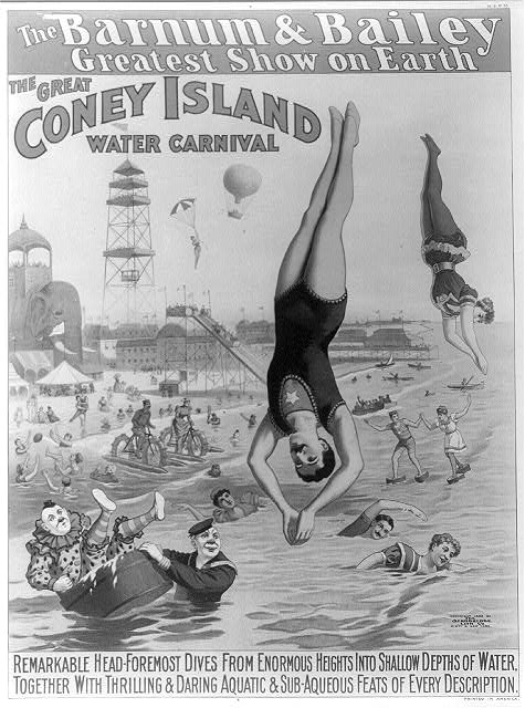 The Barnum & Bailey Greatest Show on Earth--The great Coney Island water carnival...