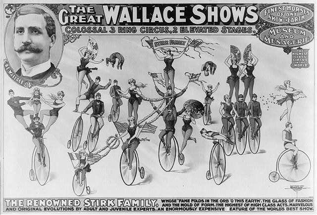 The Great Wallace shows : colossal 3 ring circus, 2 elevated stages