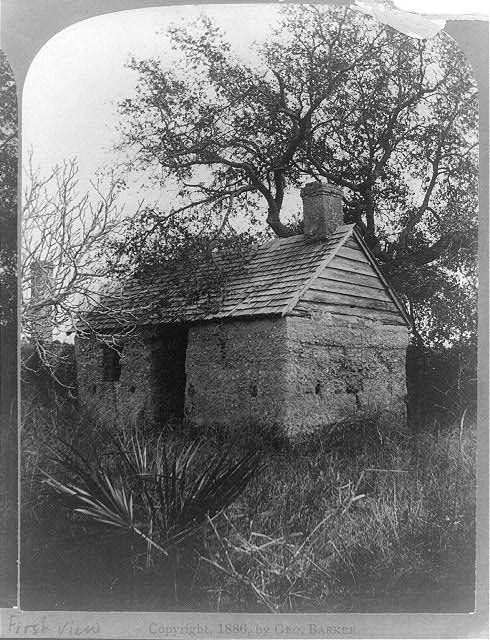 Florida-- ruins of the slave cabins--Ft. George Id.