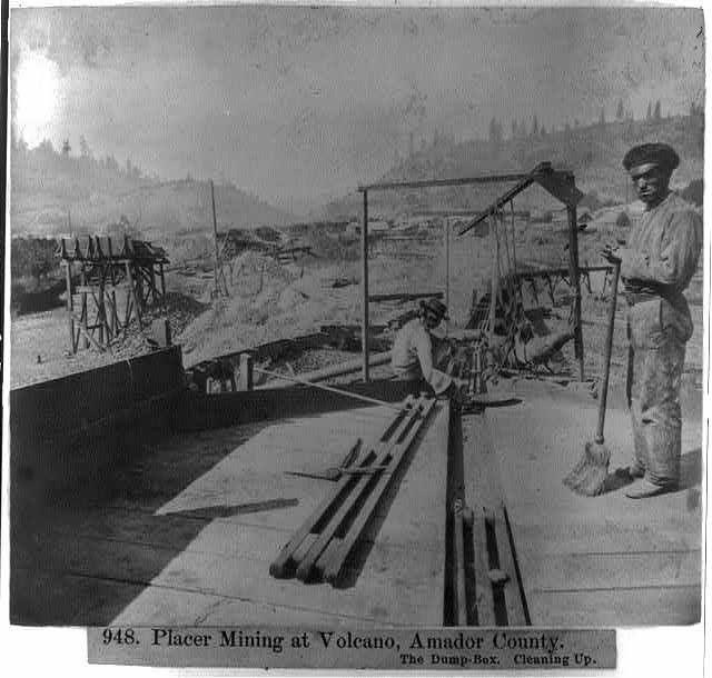 Placer Mining at Volcano, Amador County, Calif.