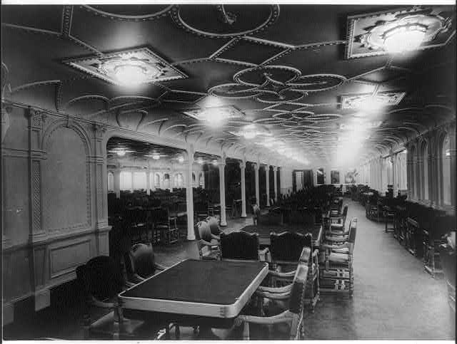 [The S.S. OLYMPIC, 1911: 1st class dining room]