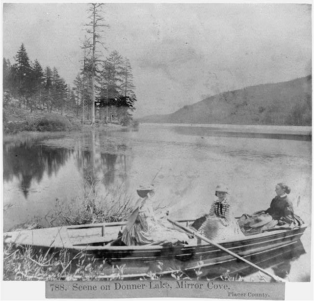Scene on Donner Lake, Mirror Cove, Placer County