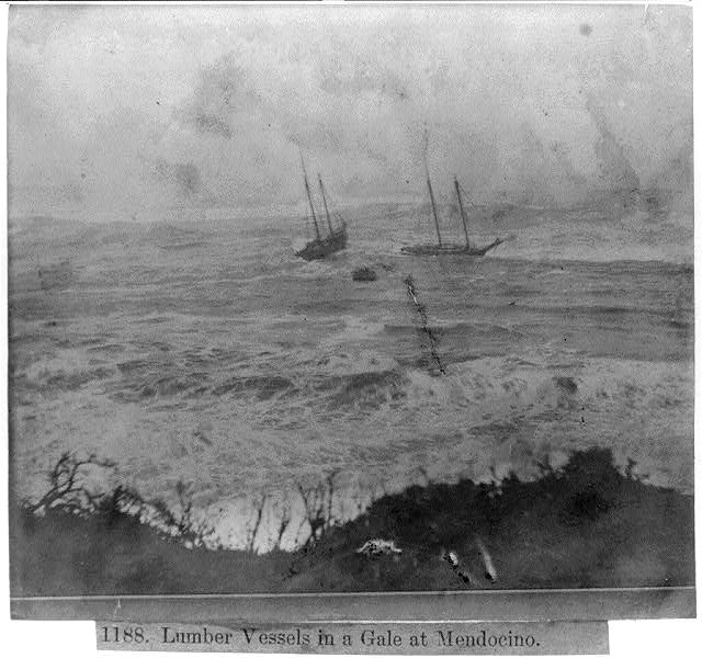 Lumber Vessels in a Gale at Mendocino