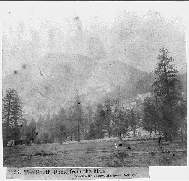 The South Dome from the little Yosemite Valley, Mariposa County