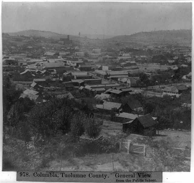 Columbia, Tuolumne County - General view from the Public School