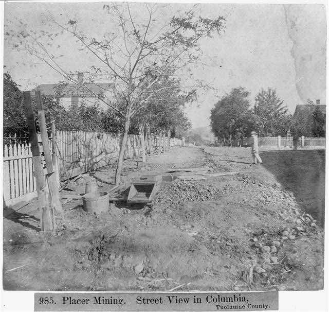 Placer Mining - Street view in Columbia, Tuolumne County