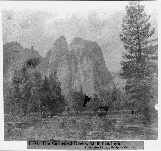The Cathedral Rocks, 3,000 feet high, Yosemite Valley, Mariposa County