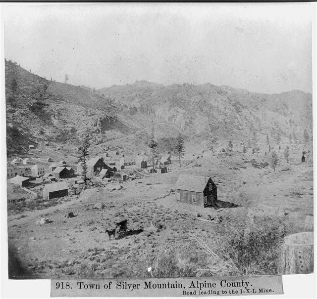 Town of Silver Mt., Alpine County -  Road leading to the I-X-L Mine