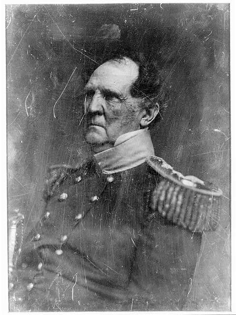[Winfield Scott, head-and-shoulders portrait, three-quarters to the left, in military uniform]
