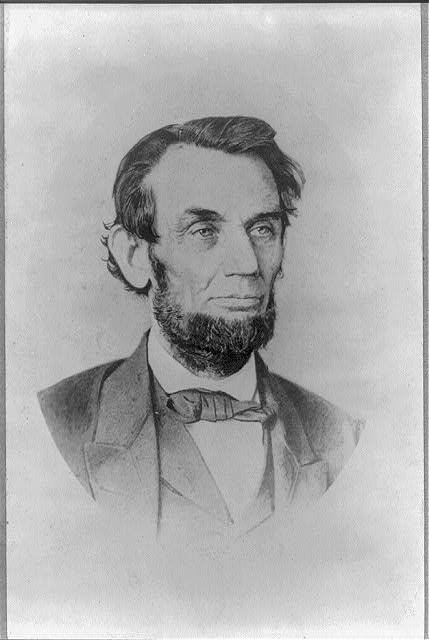 [Abraham Lincoln, oval bust portrait, facing right]