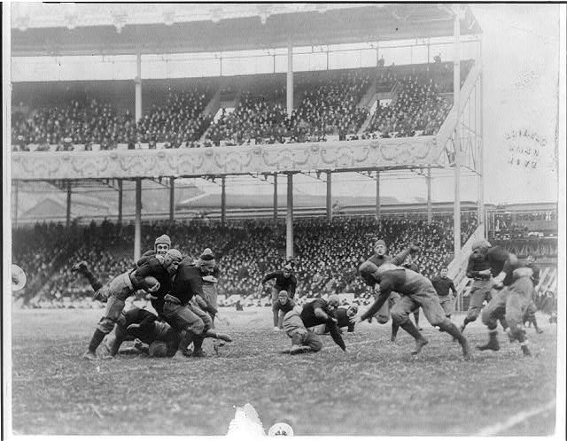 [Army - Navy game, Polo Grounds, New York]